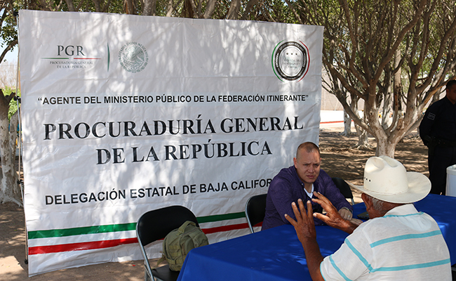 Promueven en BCS programa Agente del Ministerio Público Itinerante