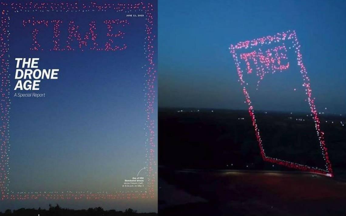 [VIDEO] La espectacular portada de Time hecha con 958 drones