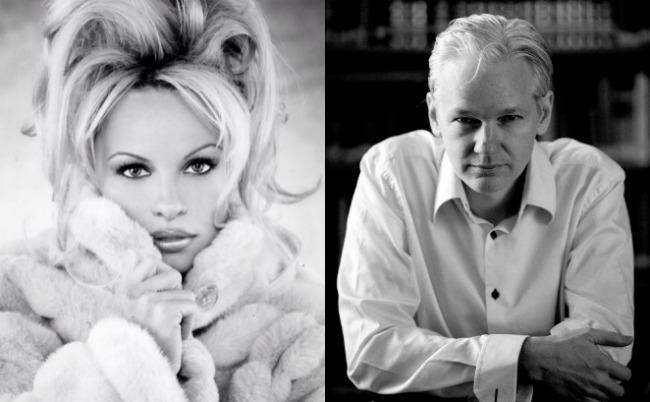¿Pamela Anderson, novia del fundador de Wikileaks?