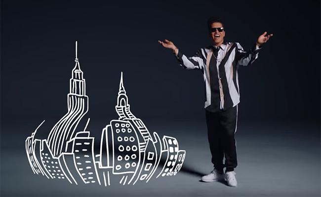 Bruno Mars demuestra que es un astro del baile en su nuevo video