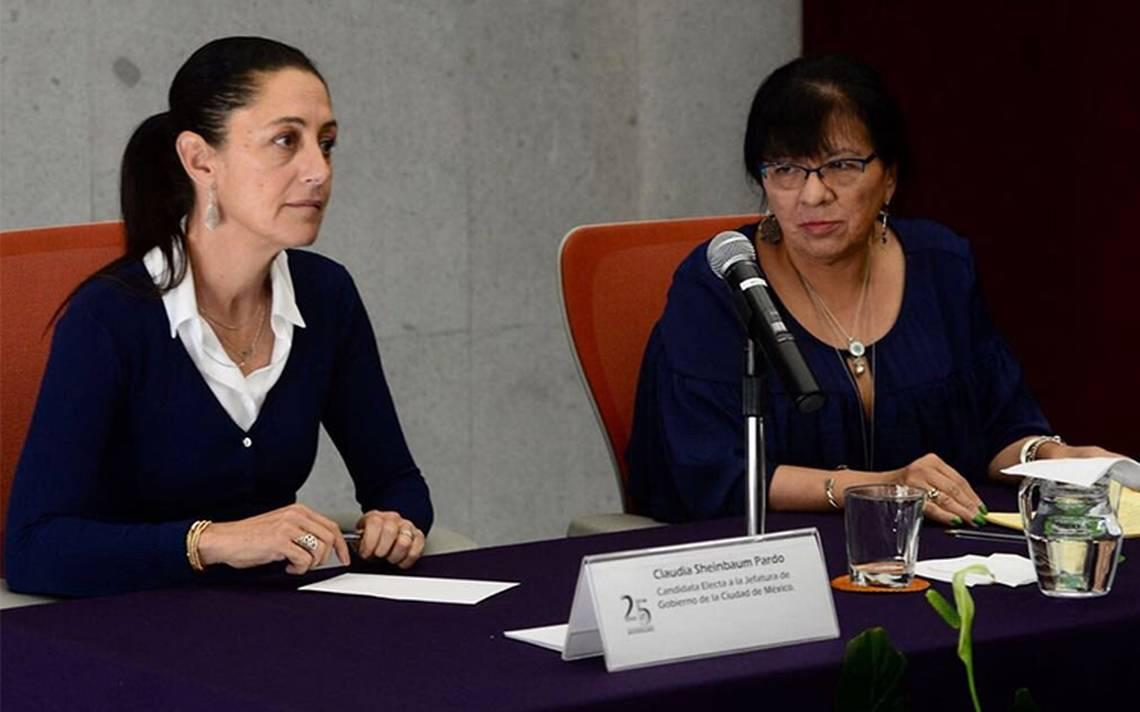 Sheinbaum y Derechos Humanos de la CDMX acuerdan intercambio de información