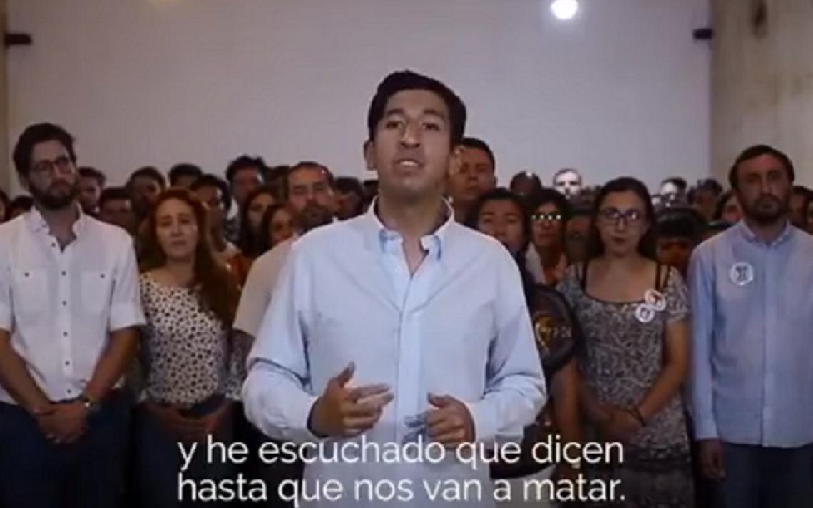 Pedro Kumamoto denuncia amenazas de muerte en discurso contra cúpula política