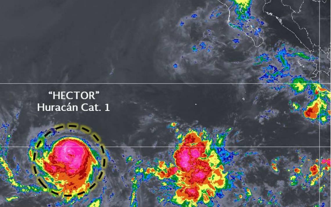 Héctor se convierte en huracán categoría 1 sin afectar al país