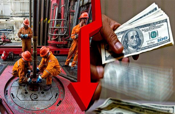 Baja el petróleo mexicano 1.43 dólares y cierra en 38.17 dólares por tonel