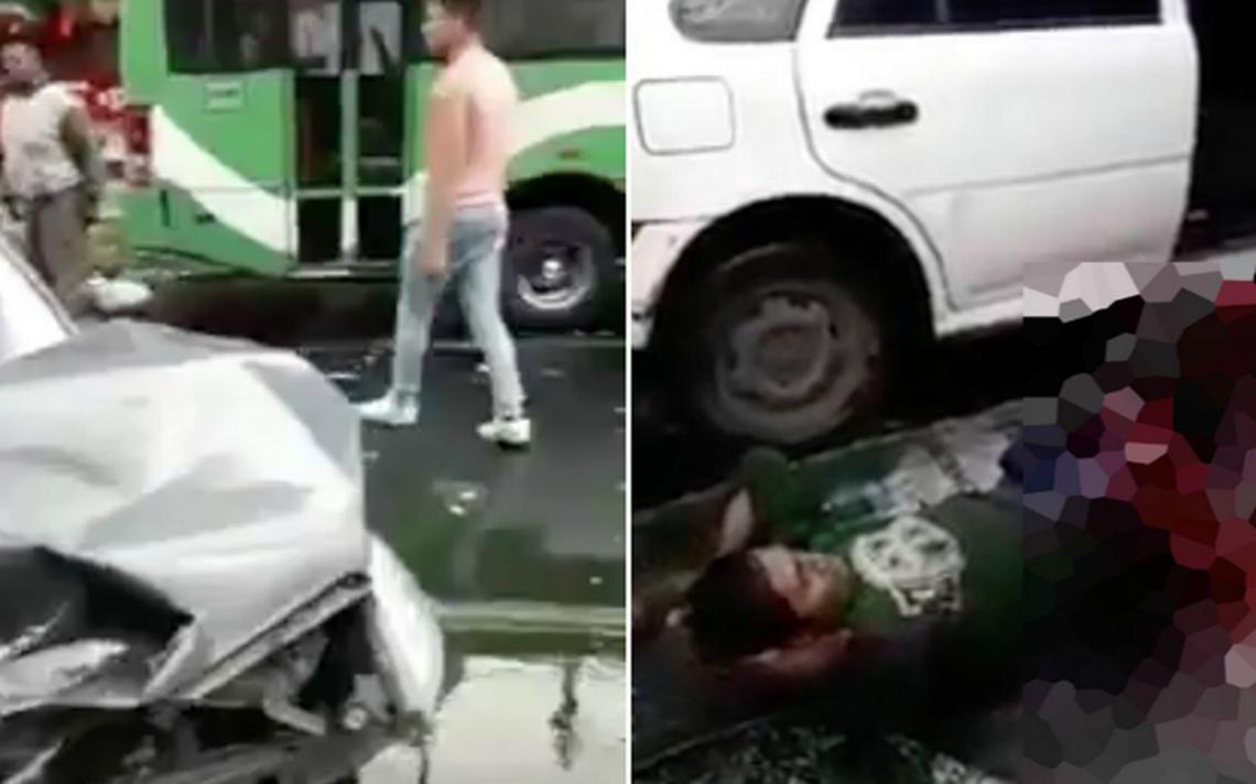 Ebrio choca y mutila a mecánico que reparaba un camión