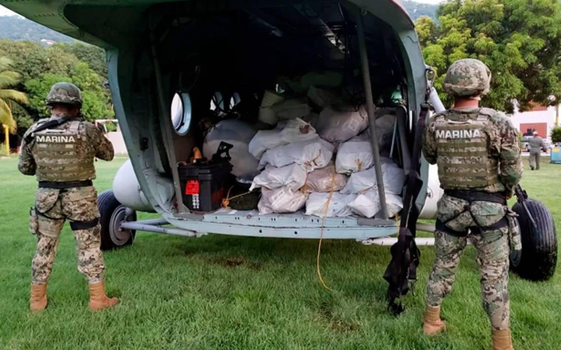 Marina incauta 2 toneladas de cocaína frente a costas de Acapulco