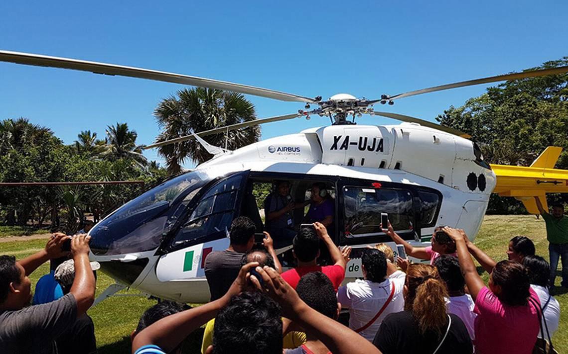 """CFE """"presta"""" helicóptero para actos de precampaña"""