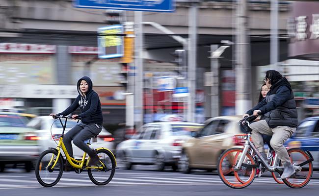 Bicicleta compartida por medio de una app