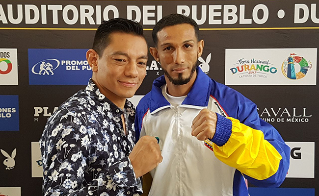 Pelea entre Diamante Mijares y Potro Hernández por el campeón Plata WBC