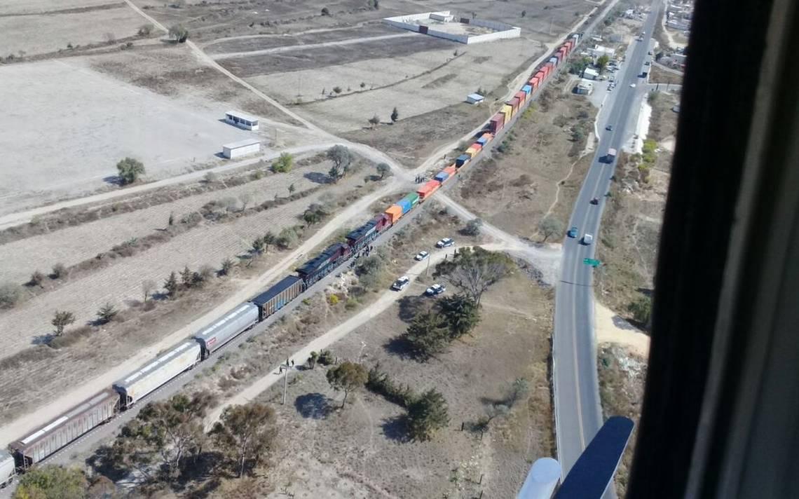 Policía estatal frustra asalto a tren tras paso por Puebla
