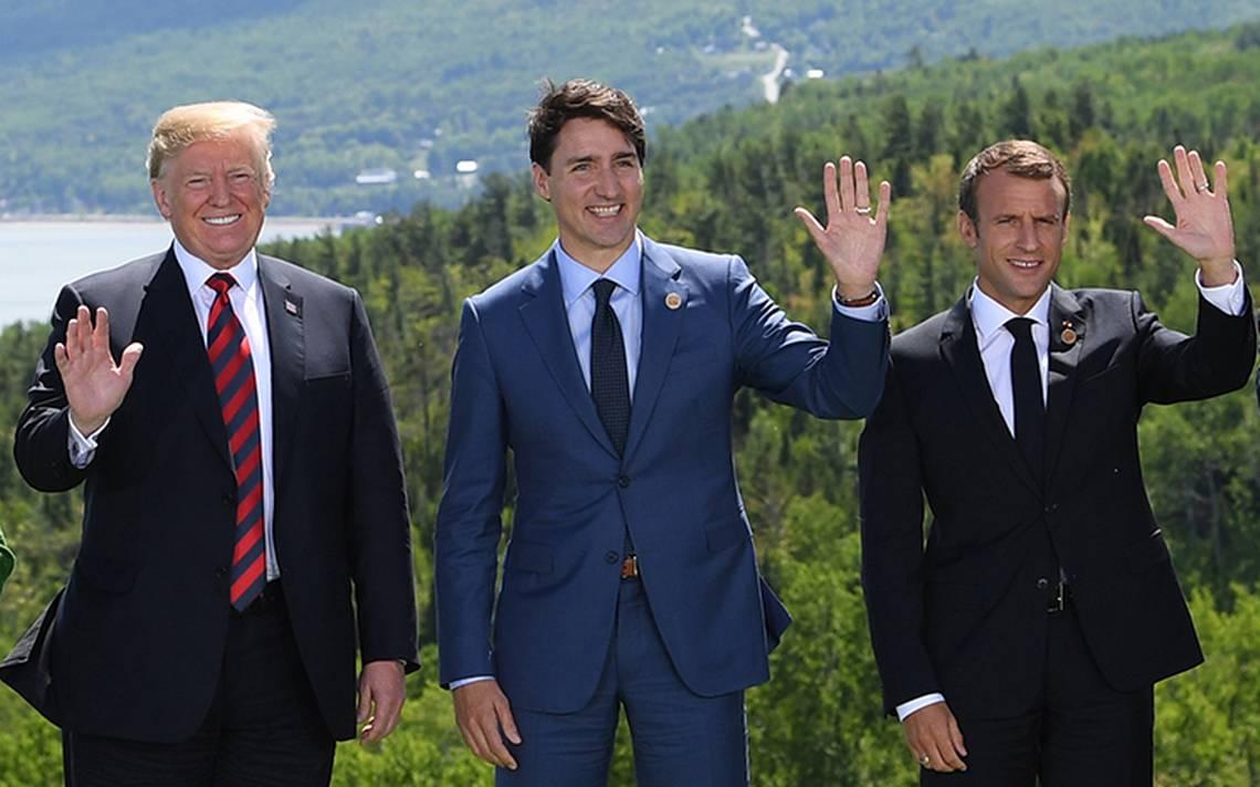 Plática de sofá: Macron y Trump se reúnen finalmente en la Cumbre del G7