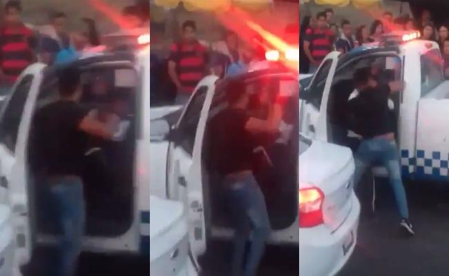 Franeleros golpean a policía de tránsito en Tlaquepaque