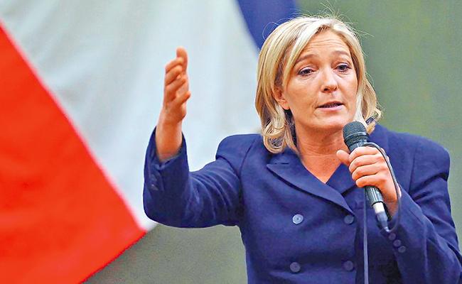 """Marine Le Pen, la """"mártir"""", busca lograr réditos políticos en su campaña"""