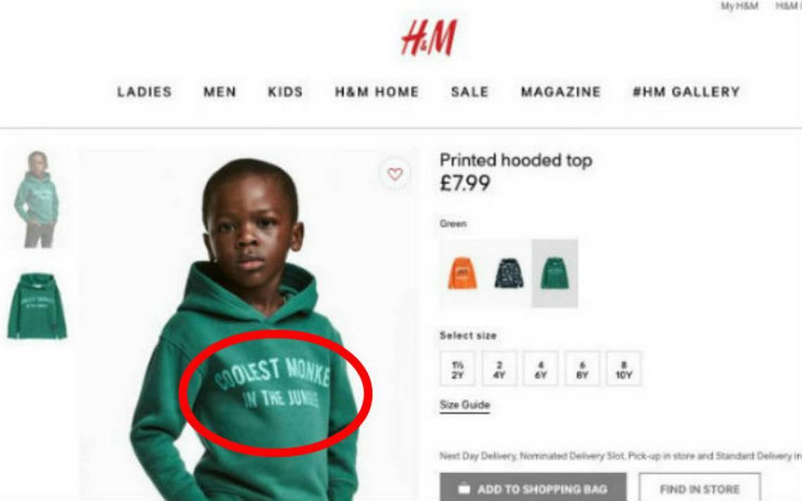 'El simio más cool de la selva', acusan a la empresa de moda H&M de racista por nueva campaña