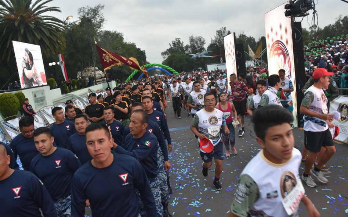 Participan más de 40 mil personas en Sexto Medio Maratón de la Sedena
