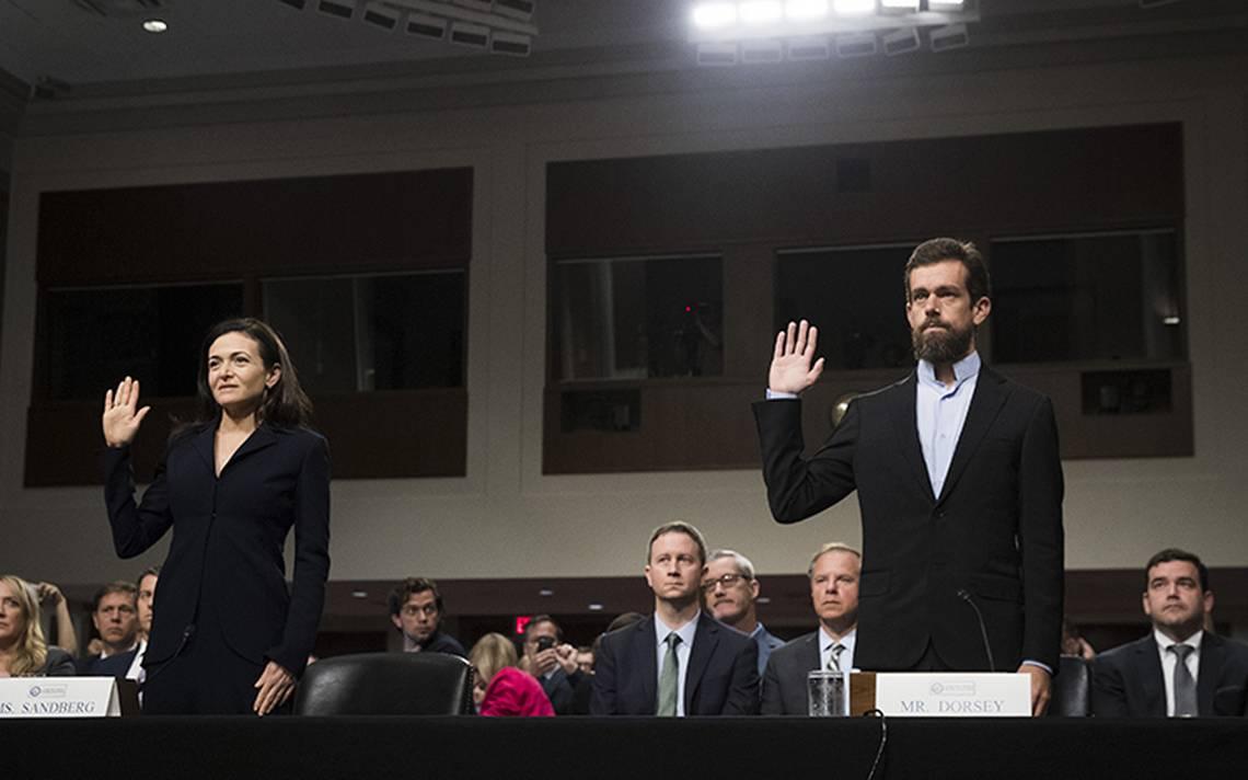 Facebook y Twitter se defienden ante Congreso de EU sobre interferencia política