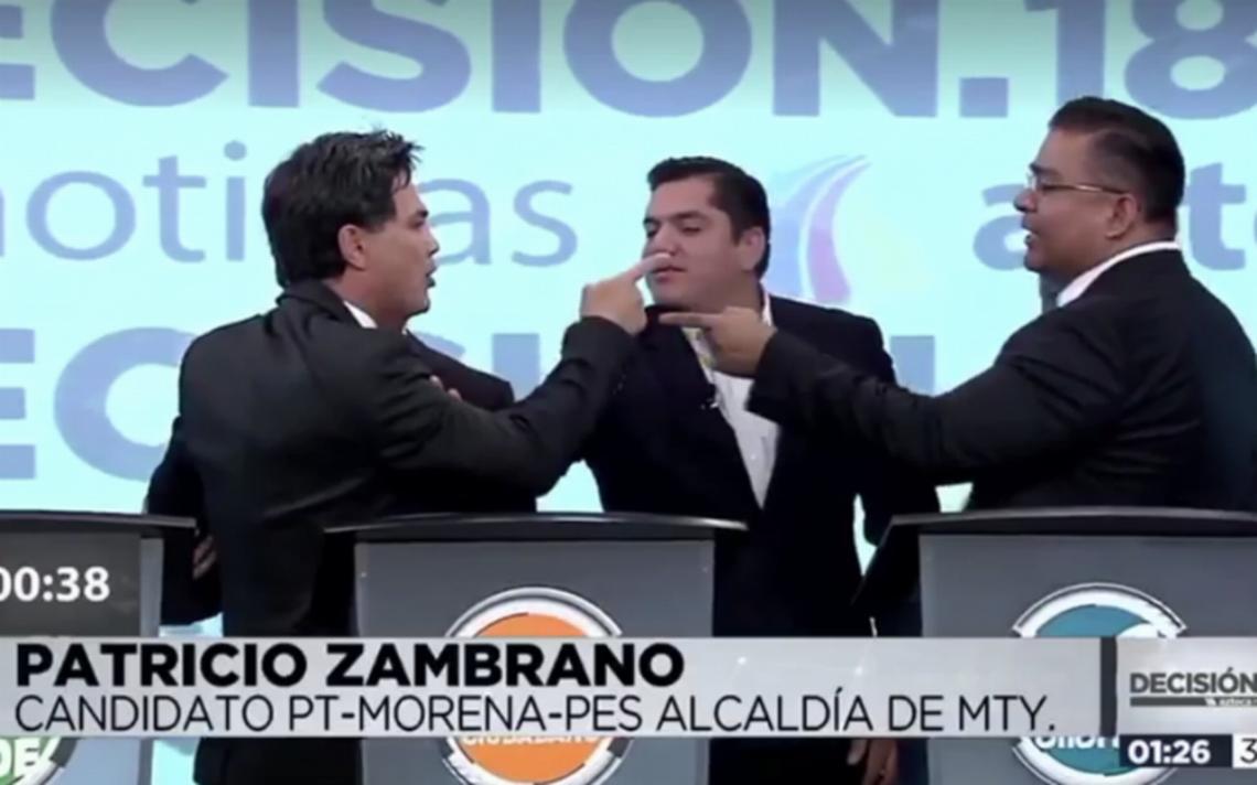 [Video] Pato Zambrano explota y amenaza a candidato en debate por alcaldía de Monterrey