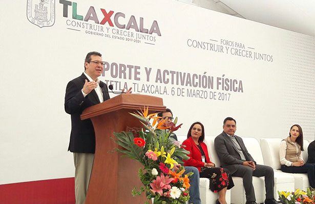 En Tlaxcala no existe la cultura del deporte, reconoce el Gobernador