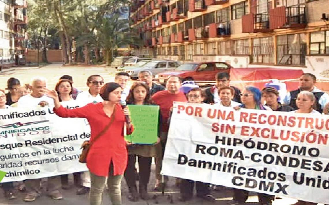 Damnificados tomarán Tlalpan si proceso de reconstrucción no es digno