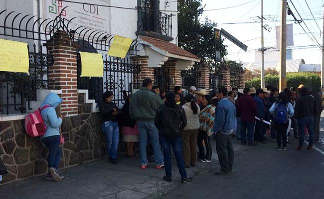Protestan por instalación de hidroeléctricas en Puebla