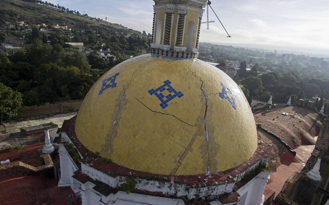 Reciente sismo pone en riesgo parroquia en Tlaxcala