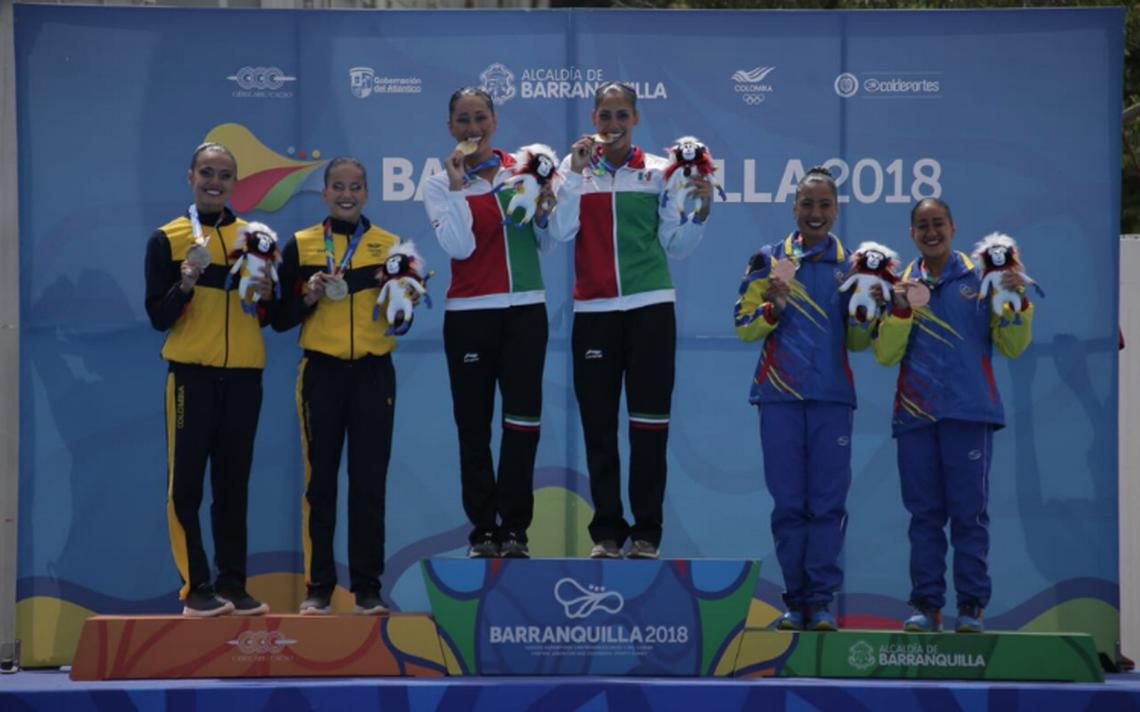 Achach y Diosdado firman el oro en la rutina técnica por parejas en nado sincronizado
