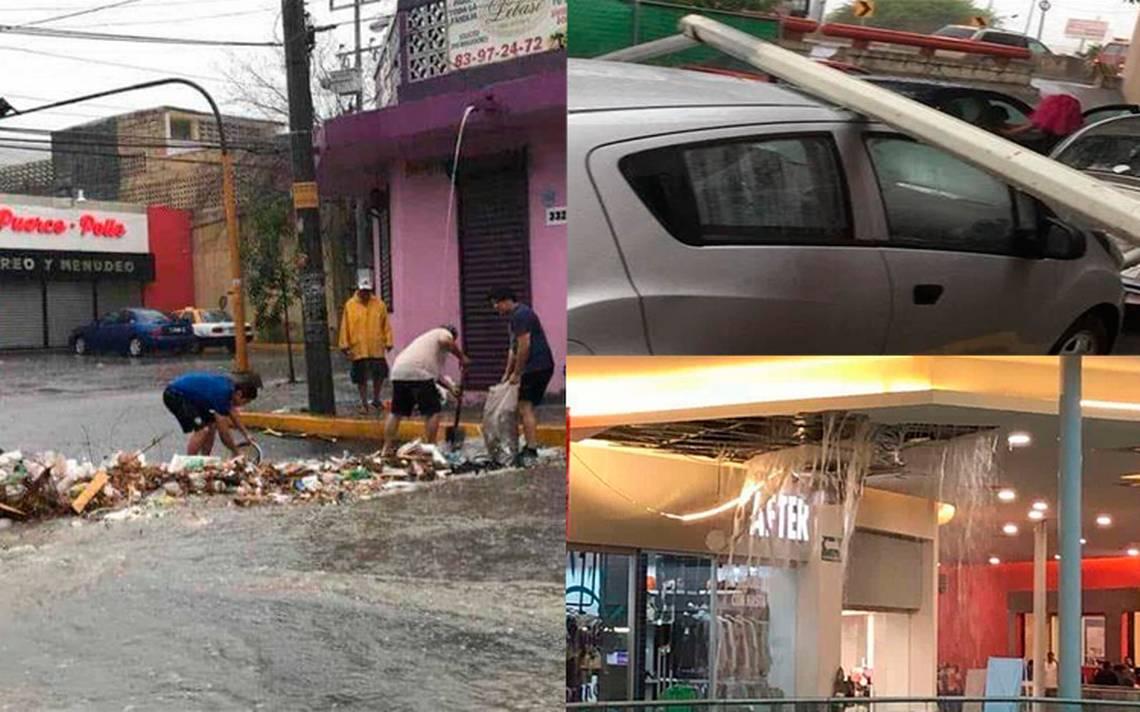 Lluvias abaten altas temperaturas en Monterrey pero causan severos daños