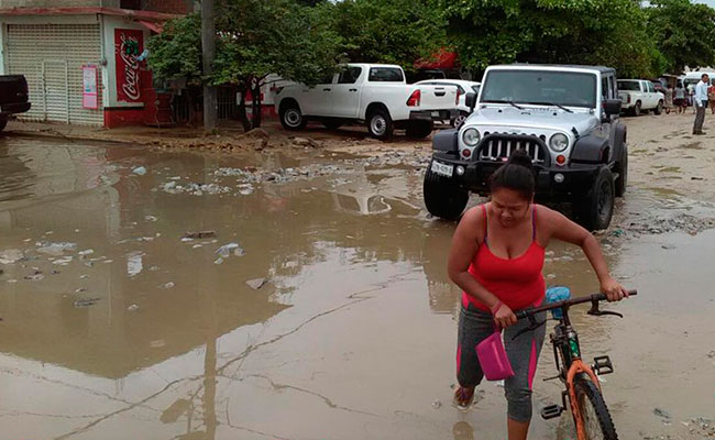 Lluvias causan afectaciones en Guerrero y Oaxaca