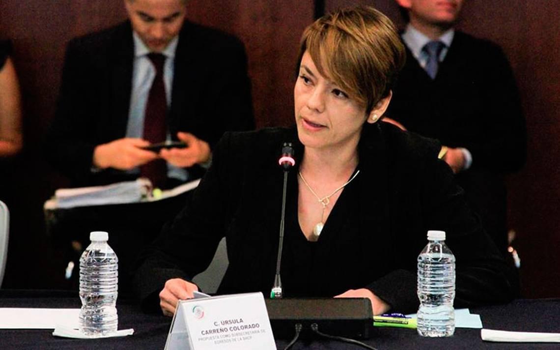 Aprueban a Úrsula Carreño como subsecretaria de Egresos de SCHP
