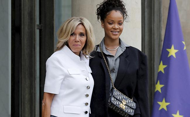 Rihanna visita el Palacio del Elíseo en plena crisis de popularidad de Macron