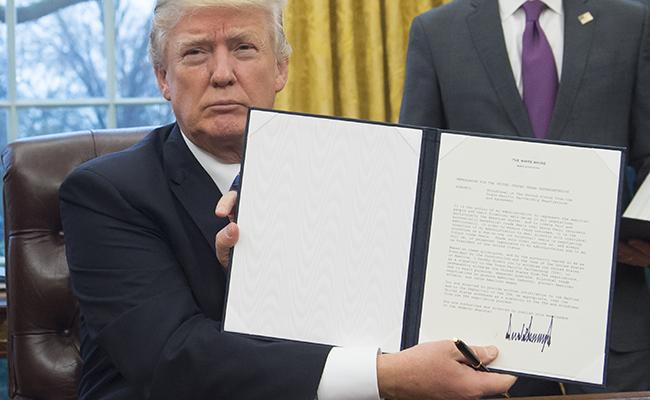 ¡Es oficial! Estados Unidos notifica a países integrantes su salida del TPP