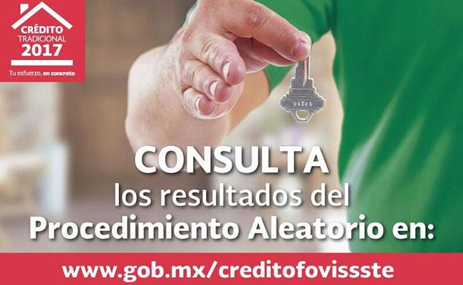 Realiza el Fovissste procedimiento aleatorio para otorgar créditos