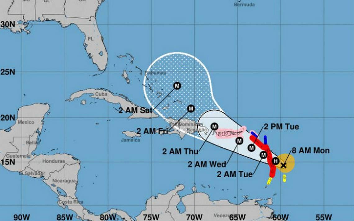María se fortalece en el Caribe a huracán categoría 3