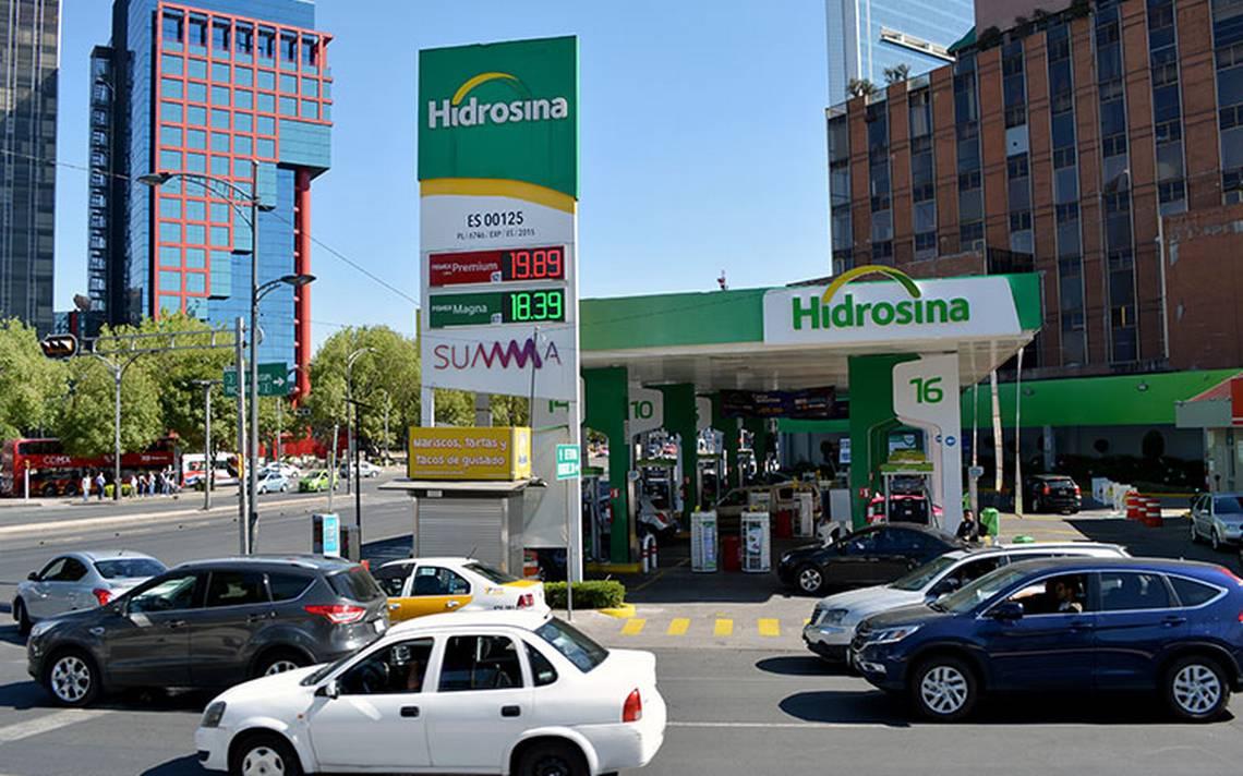 Sin impuestos, precio de gasolina bajaría hasta 30% : Hidrosina