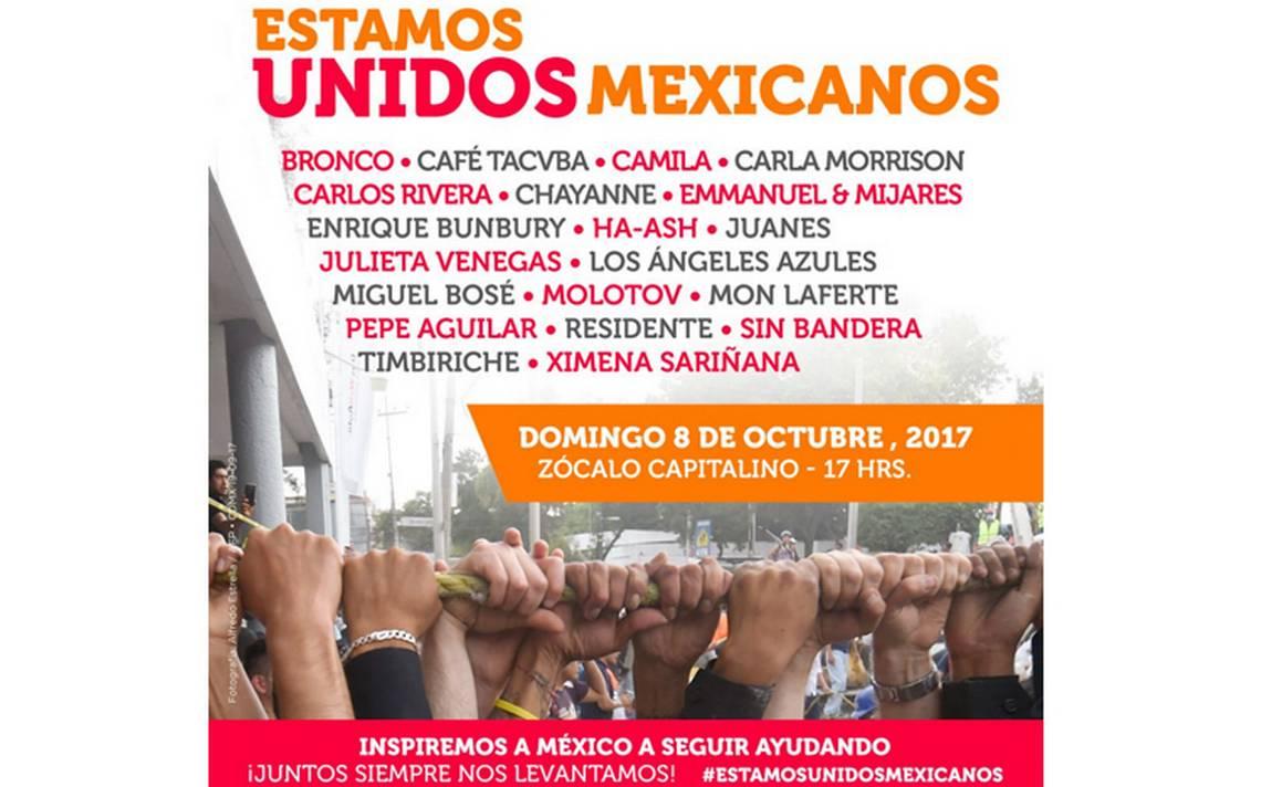 ¡Megaconcierto en el Zócalo! Unen voces para inspirar a México a seguir ayudando