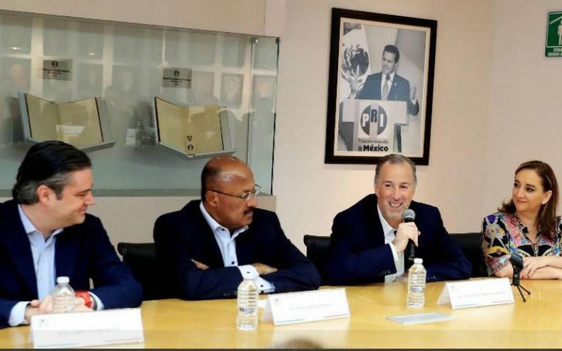 Tras derrota, CEN del PRI reconoce entrega de José Antonio Meade