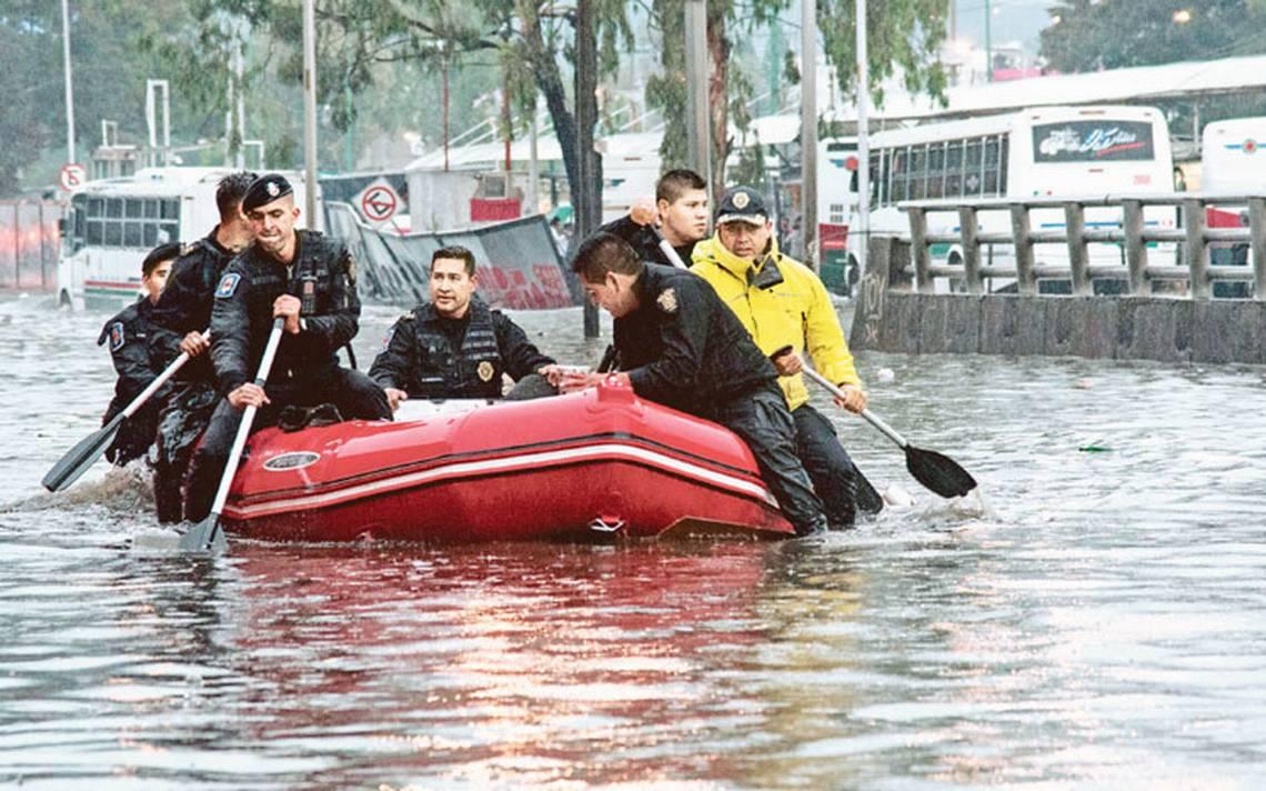 Entre inundaciones, desde 2016 se eleva cifra en CDMX