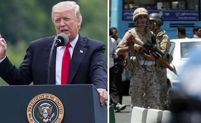 Los que patrocinan el terrorismo se arriesgan a ataques, dice Trump a Irán