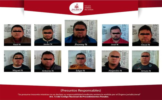Presentan a presuntos responsables de matanza en Jalisco