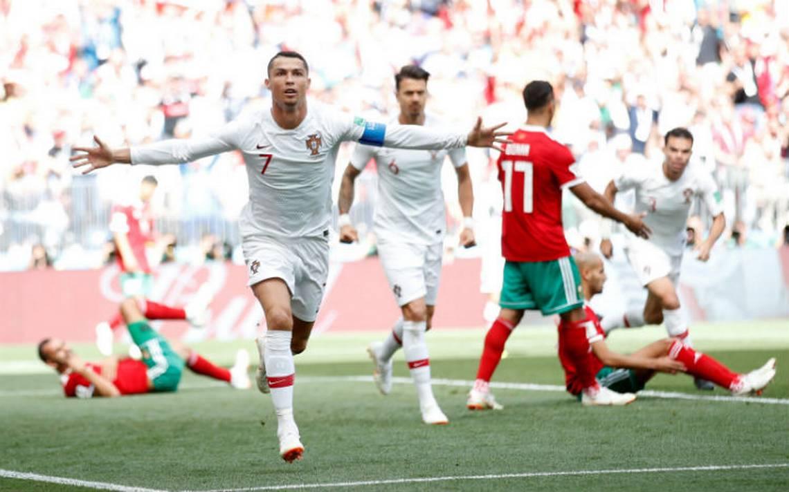 Un rugido de Ronaldo deja a Portugal a un paso de octavos y elimina a Marruecos