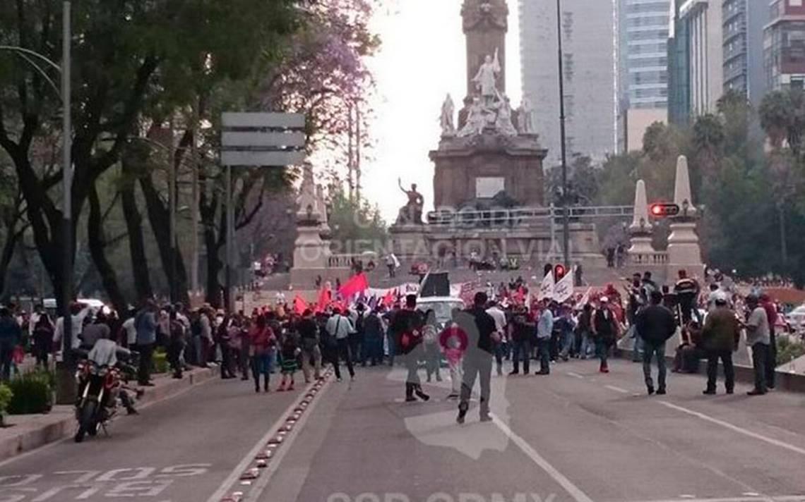 Manifestantes afectarán la vialidad en la Ciudad de México