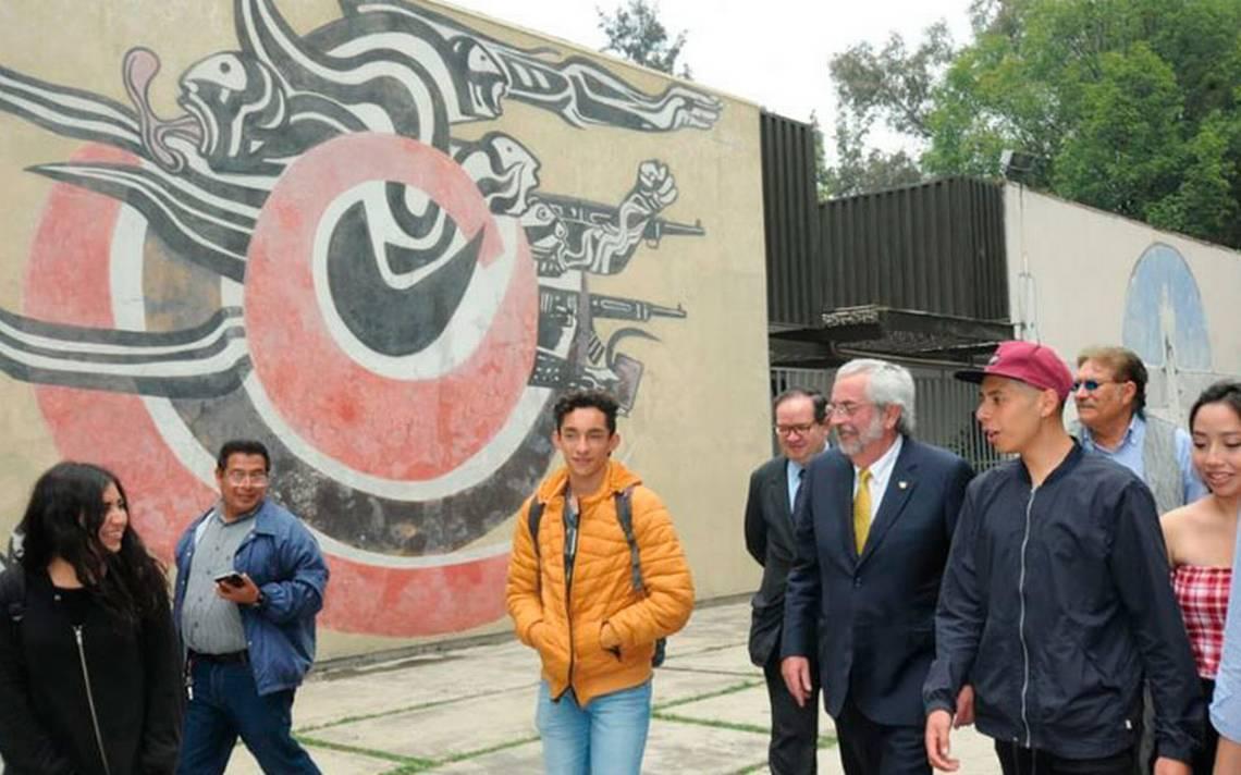 Rector Graue acepta pliego petitorio de estudiantes del CCH Azcapotzalco