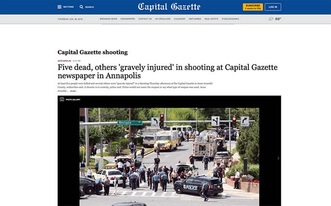 Capital Gazette, su historia y la cobertura que realizan del tiroteo en su propio medio