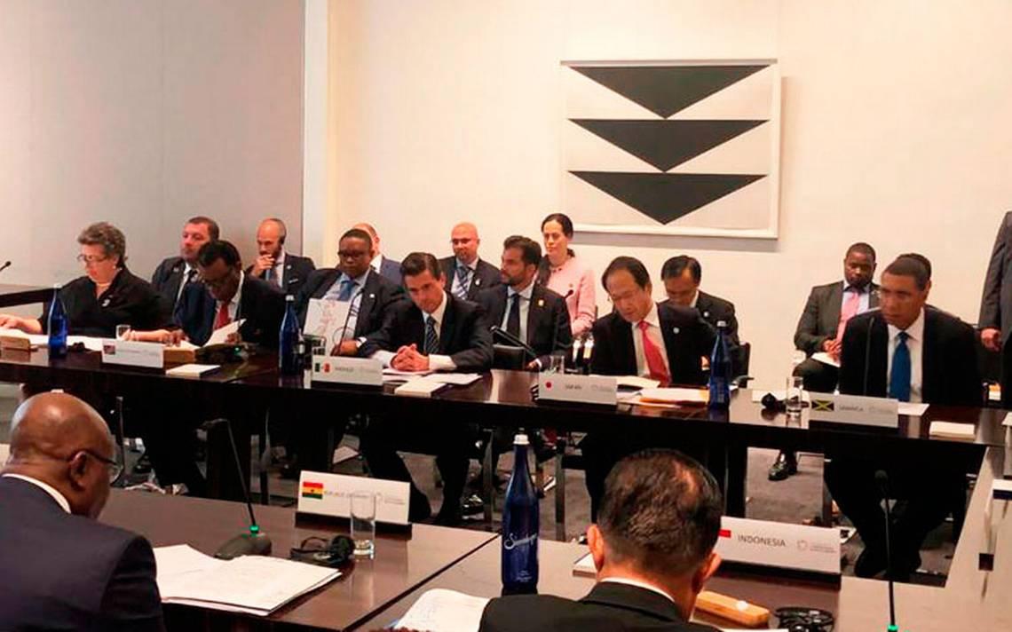 Peña Nieto hace llamado urgente en la ONU para combatir el sargazo