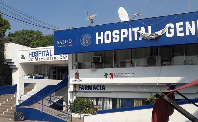 Dejan cuerpo en Hospital General de Mazatlán