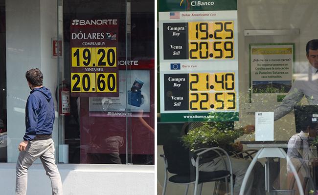 Se mantiene dólar frente a peso, cierra en 20.74 pesos en bancos de la CDMX