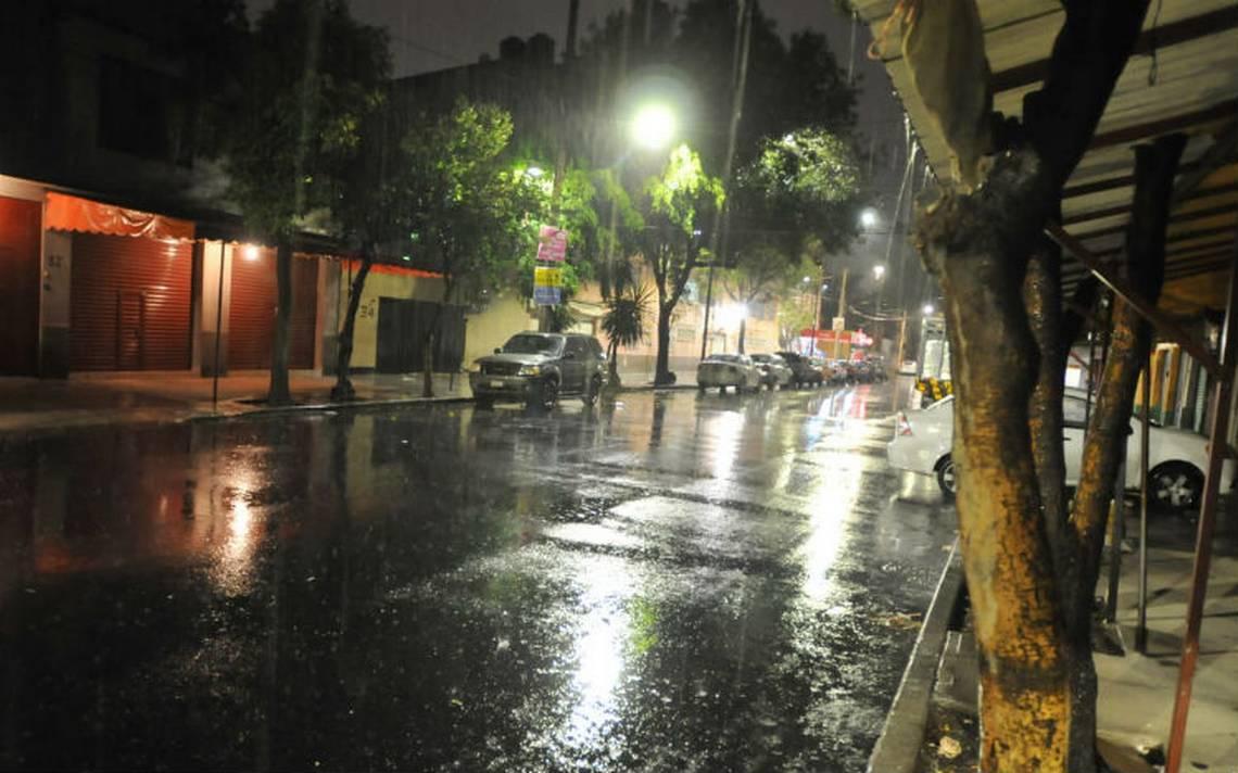 ¡Llegaron las lluvias! bajo la lluvia al menos seis delegaciones  de la CDMX