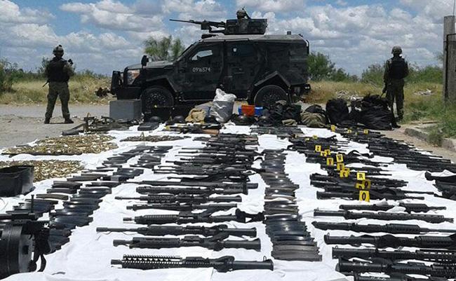 Ejército decomisa arsenal en Nuevo Laredo