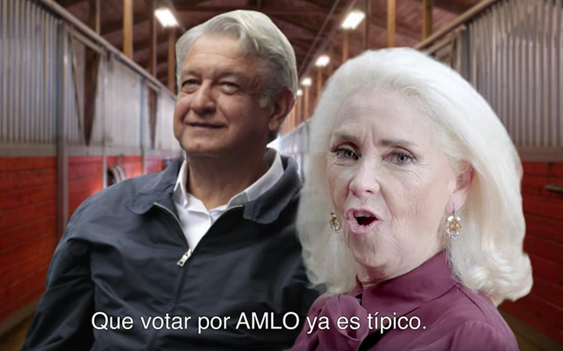 Surge nuevo video al estilo de la Niña Bien que pide el voto por AMLO