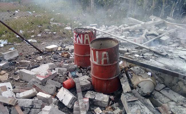 Explosión de polvorín en Amecameca deja tres heridos